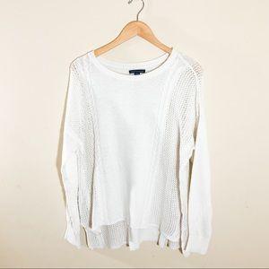 American Eagle Boho Mesh Knit Lightweight Sweater